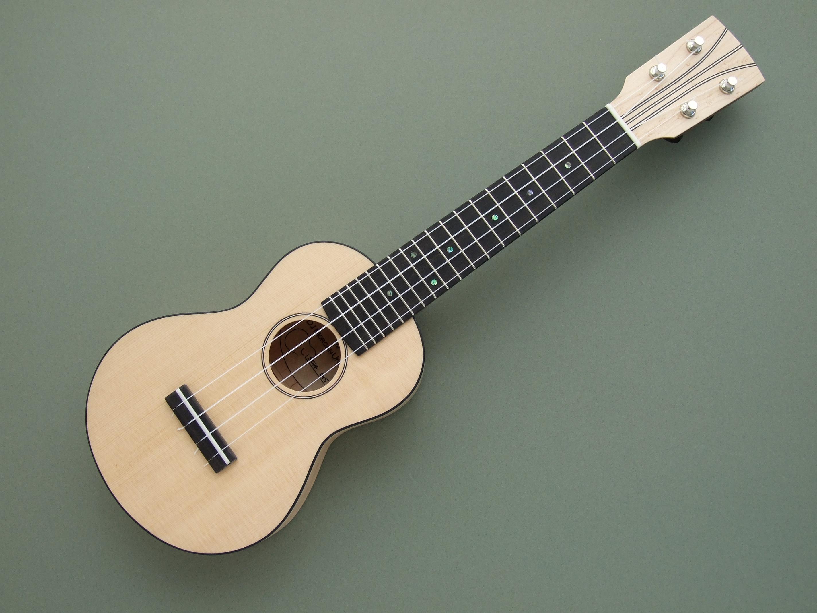 maple sitka spruce soprano ukulele with mahogany neck. Black Bedroom Furniture Sets. Home Design Ideas