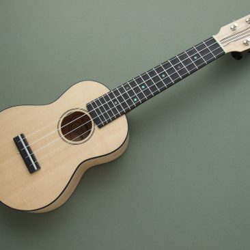 Maple and Sitka Spruce Soprano Ukulele with Mahogany Neck