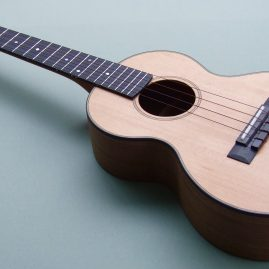 Tenor Ukulele in American Black Walnut and Western Red Cedar
