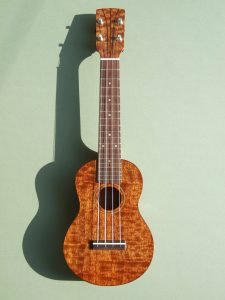 Soprano Ukulele in Figured Mahogany