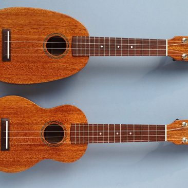 DJ Morgan Pineapple and Standard Soprano Ukuleles
